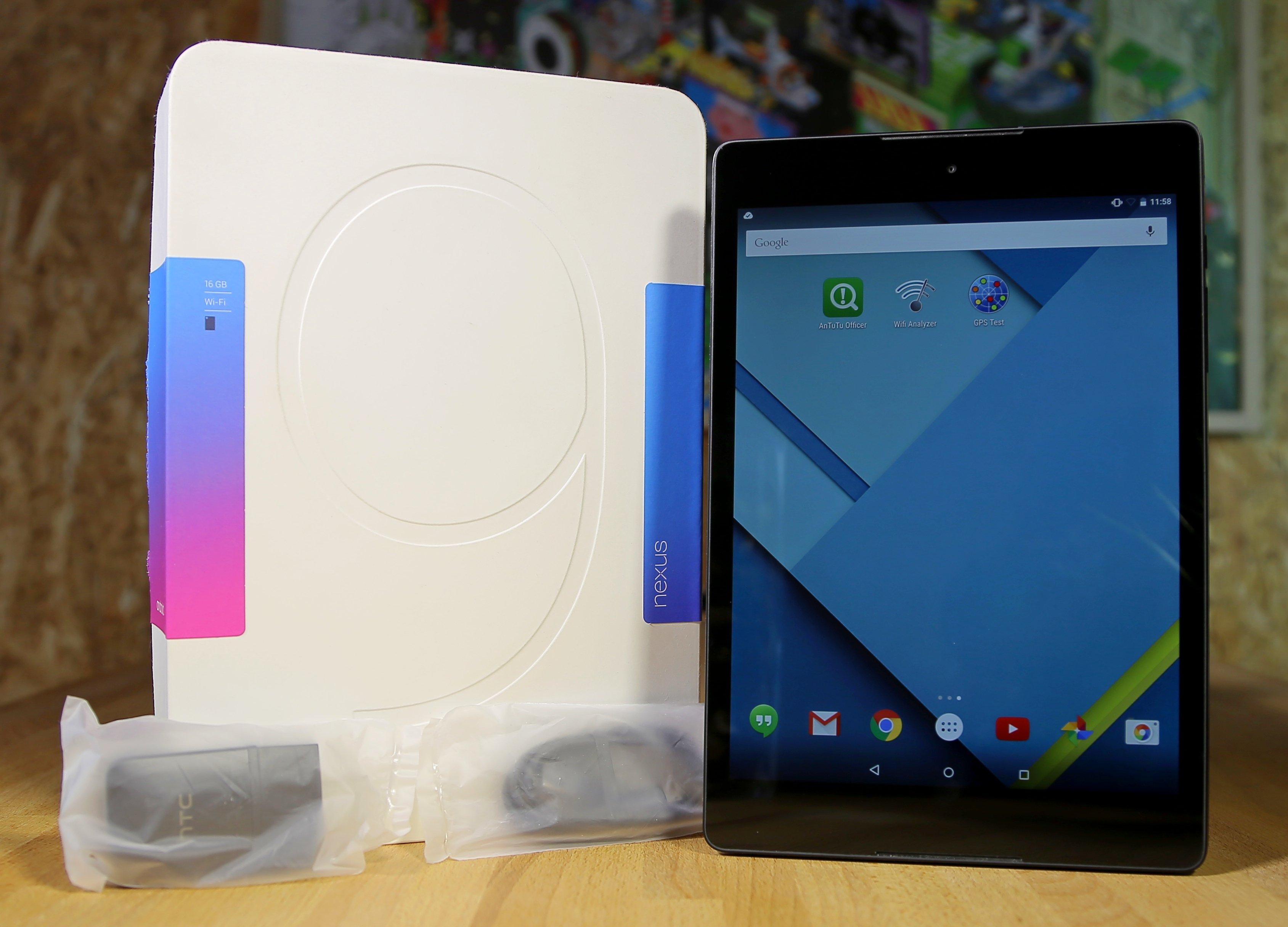 Nexus 9 комплектация