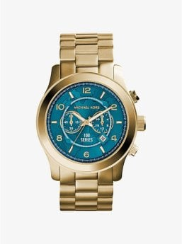 Watch Hunger Stop Oversized Runway Gold-Tone Stainless Steel Watch