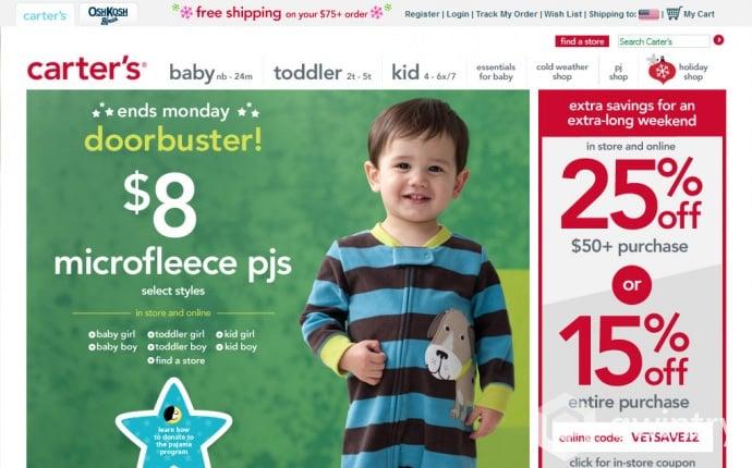 Como comprar roupas para bebês na Carter's dos EUA